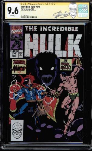 Incredible Hulk #371 Cgc 9.6 White Ss Stan Lee New Label Cgc #1227818007
