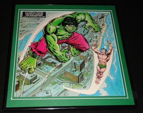 Incredible Hulk Sub Mariner 1977 ORIGINAL Framed 12x12 Marvel Poster