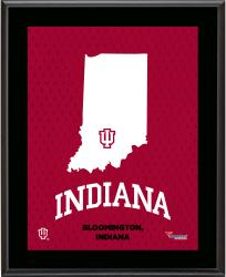 "Indiana Hoosiers Sublimated 10.5"" x 13"" State Plaque"