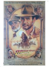 Indiana Jones and the Last Crusade Autographed Poster - Lucas, Speilberg, Watts, Kennedy & Marshall