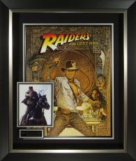 Indiana Jones Harrison Ford Signed Poster Display