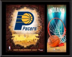 """Indiana Pacers Sublimated 12"""" x 15"""" Team Logo Plaque"""