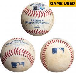 Cleveland Indians vs. Texas Rangers 2014 Game-Used Baseball