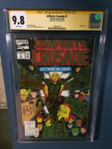 Infinity Crusade Cgc 9.8 Ss Stan Lee Signed Gold Foil Cover Cgc #15084700013