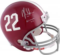 Mark Ingram Alabama Crimson Tide Autographed Riddell Replica Helmet With Heisman 09 Inscription