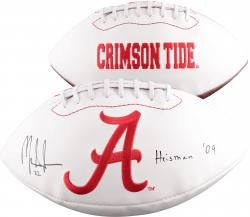 "INGRAM, MARK AUTO ""HEISMAN 09 (ALABAMA) (WHT PANEL) FOOTBALL - Mounted Memories"