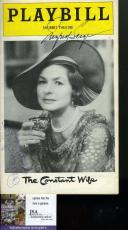 Ingrid Bergman Jsa Coa Hand Signed Playbill Authentic Autograph