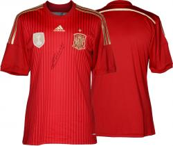 Andres Iniesta Signed Jersey - Spain Red Back Mounted Memories