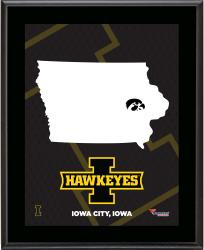 IOWA HAWKEYES (STATE) 10x13 PLAQUE (SUBL) - Mounted Memories
