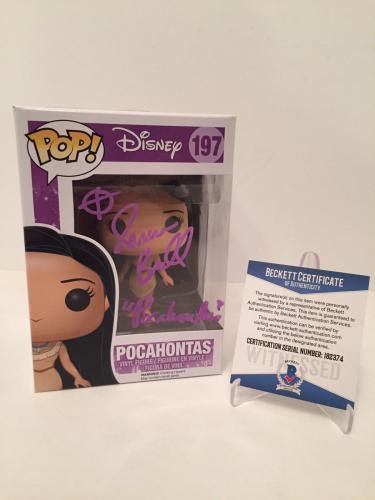"Irene Bedard Signed Disney Pocahontas Funko Pop ""Pocahontas"" Purple Beckett BAS"