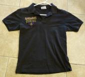 IRON MAIDEN 1988 SEVENTH SON Tour Crew Issued Long Polo Shirt Black Small