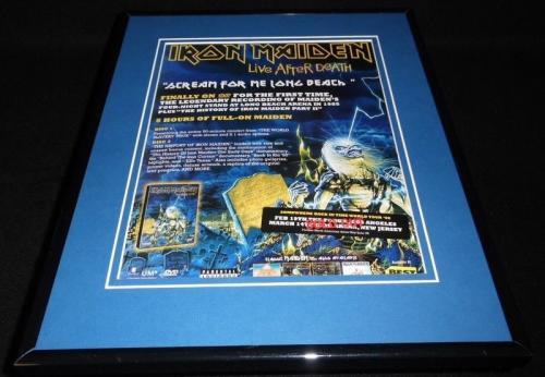 Iron Maiden 2008 Live After Death Framed 11x14 ORIGINAL Vintage Advertisement