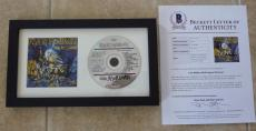 Iron Maiden Live After Death All 5 Band Signed Framed CD BECKETT Certified