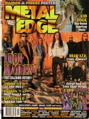 Iron Maiden Nicko Dave Signed Metal Edge Magazine Cover AFTAL UACC RD COA