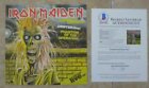 "Iron Maiden Special Live X5 Band Signed 12"" LP Single Display BECKETT Certified"