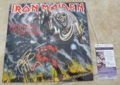 Iron Maiden Steve Dave & Adrian Signed Number Of The Beast LP JSA Certified