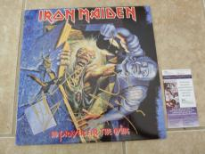 Iron Maiden Steve Dave Nicko Janick Signed Prayer For The Dying LP JSA Certified