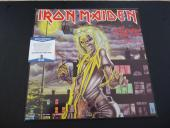 Iron Maiden Steve Harris & Paul Di'anno Autographed Signed LP Beckett Certified