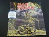 Iron Maiden teve Harris & Paul Di'anno Autographed Signed LP Beckett Certified 2