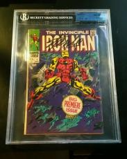 Iron Man 1 1968 Signed Stan Lee Autograph Marvel Comic JSA/BGS Authentic