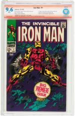 Iron Man #1 Cbcs 9.6 White Stan Lee Signed & Verified 1st Iron Man In Own Title