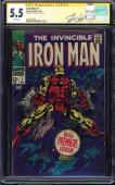Iron Man #1 Cgc 5.5 White Ss Stan Lee 1st Iron Man In Own Title Cgc #1227701010