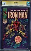 Iron Man #1 Cgc 6.0 Ss Stan Lee 1st Iron Man In Own Title Cgc #1279195013