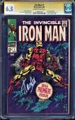 Iron Man #1 Cgc 6.5 Oww Ss Stan Lee 1st Iron Man In Own Title Cgc #1206487003