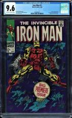 Iron Man #1 Cgc 9.6 Oww Pages 1st Iron Man In Own Title Cgc #1493646015