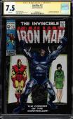 Iron Man #12 Cgc 7.5 White Ss Stan Lee Origin & 1st App Controller #1508496011