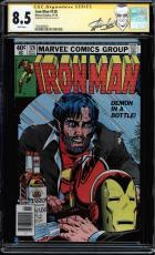Iron Man #128 Gcc 8.5 White Ss Stan Lee Signed Cgc #1508498009