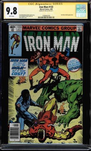 Iron Man #133 Gcc 9.8 Ss Stan Lee Signed White Highest Graded Cgc #1508462009