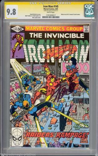 Iron Man #145 Gcc 9.8 White Ss Stan Lee Signed  Single Highest #1191203017