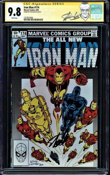 Iron Man #174 Cgc 9.8  White Pages Ss Stan Lee Highest Graded Cgc #1227815006