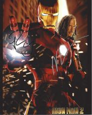 "IRON MAN 2"" Signed by ROBERT DOWNEY JR. as TONY STARK and MICKEY ROURKE as IVAN VANKO 8x10 Color Photo"