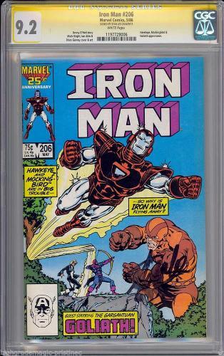 Iron Man # 206 Cgc 9.2 Ss Stan Lee Signed Single Highest Graded #1197728006