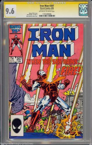 Iron Man #207 Cgc 9.6 Oww Ss Stan Lee Single Highest Graded #1191289006