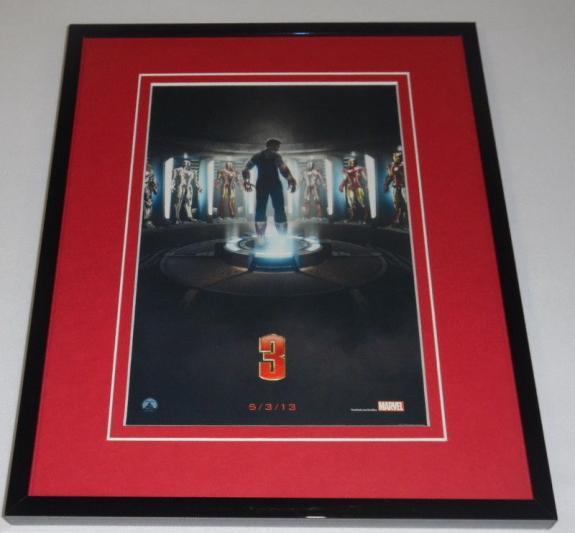 Iron Man 3 Framed 8x10 Repro Poster Display Robert Downey Jr