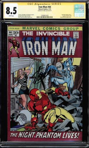 Iron Man #44 Cgc 8.5 White Pages Ss Stan Lee Signed, Ant Man Cgc #1508461020