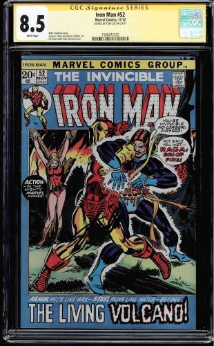 Iron Man #52 Cgc 8.5 White Pages Ss Stan Lee Signed Cgc #1508472020