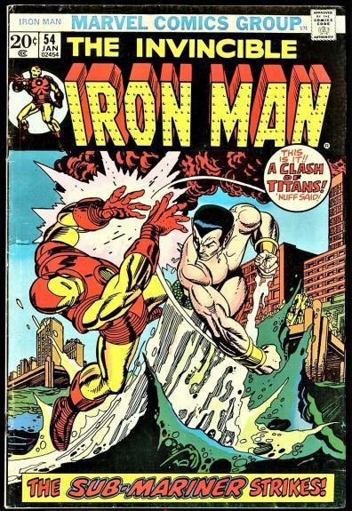 Iron Man #54 1st Appearance Moondragon 1973 Bronze Age Gil Kane Cover