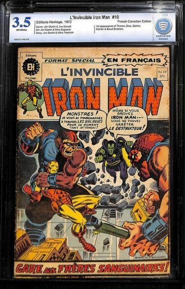 Iron Man #55 1972 French Canadian Variant Cbcs 3.5 Rare Book