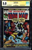Iron Man #55 Cgc 5.0 Ss Stan Lee 1st Appearance Thanos, Cgc #1508489017