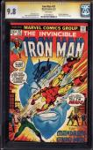 Iron Man #57 Cgc 9.8 White Ss Stan Lee Signed Highest Grade Ss #11912896014