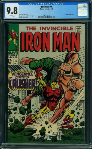Iron Man #6 Cgc 9.8 White Pages Highest Graded Cgc #1212171010