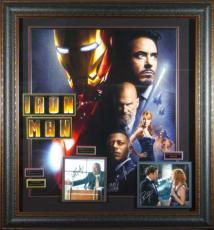 Iron Man Cast Signed Home Theater Movie Display