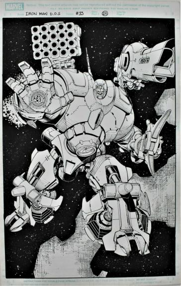Iron Man Director Of Shield #33 Page 22 Splash Page Original Comic Art