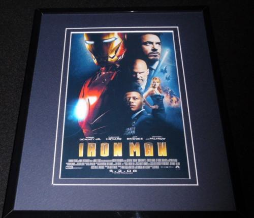 Iron Man Framed 8x10 Repro Poster Display Robert Downey Jr Gwyneth Paltrow