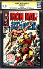Iron Man & Sub-mariner #1 Cgc 9.8 White Ss Stan Lee Signed  1 Of 2  #1234719006
