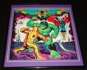 Iron Man vs Incredible Hulk 1979 ORIGINAL Framed 12x12 Marvel Poster Avengers